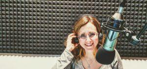 Mariangela Musolino nello studio di Umbria Radio