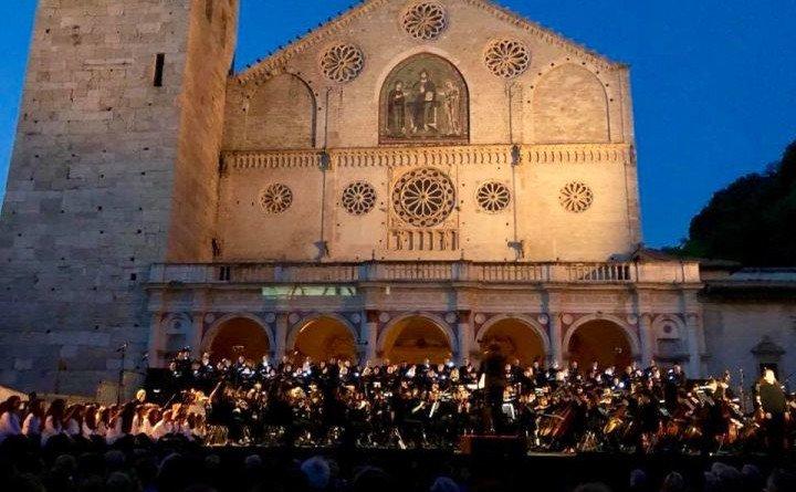 Piazza Duomo di Spoleto, cornice dei principali eventi del Festival dei Due Mondi