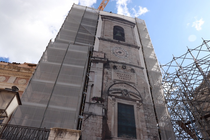norcia lavori torre sisma