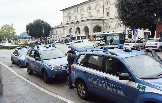 Un controllo della Polizia a Fontivegge