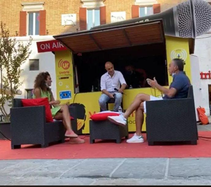 Andrea Franceschini intervista per Umbria radio Roberto Tarpani e Clara Pastorelli