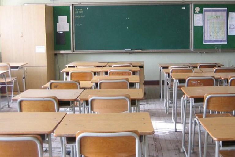 L'interno di un'aula scolastica