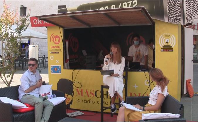 Cristiana Mapelli con Paolo Sperini per il programma radio Aperitour