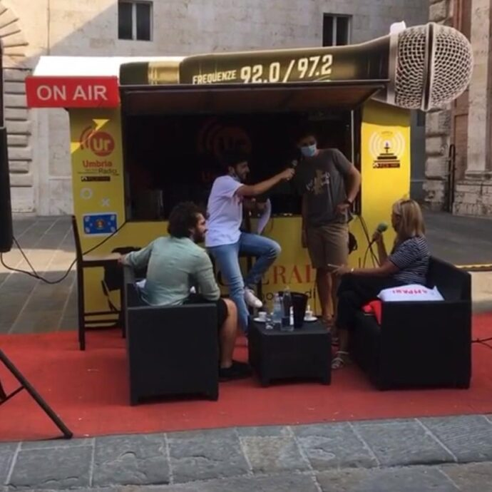 Programma radio Duc in altum da piazza della Repubblica Perugia