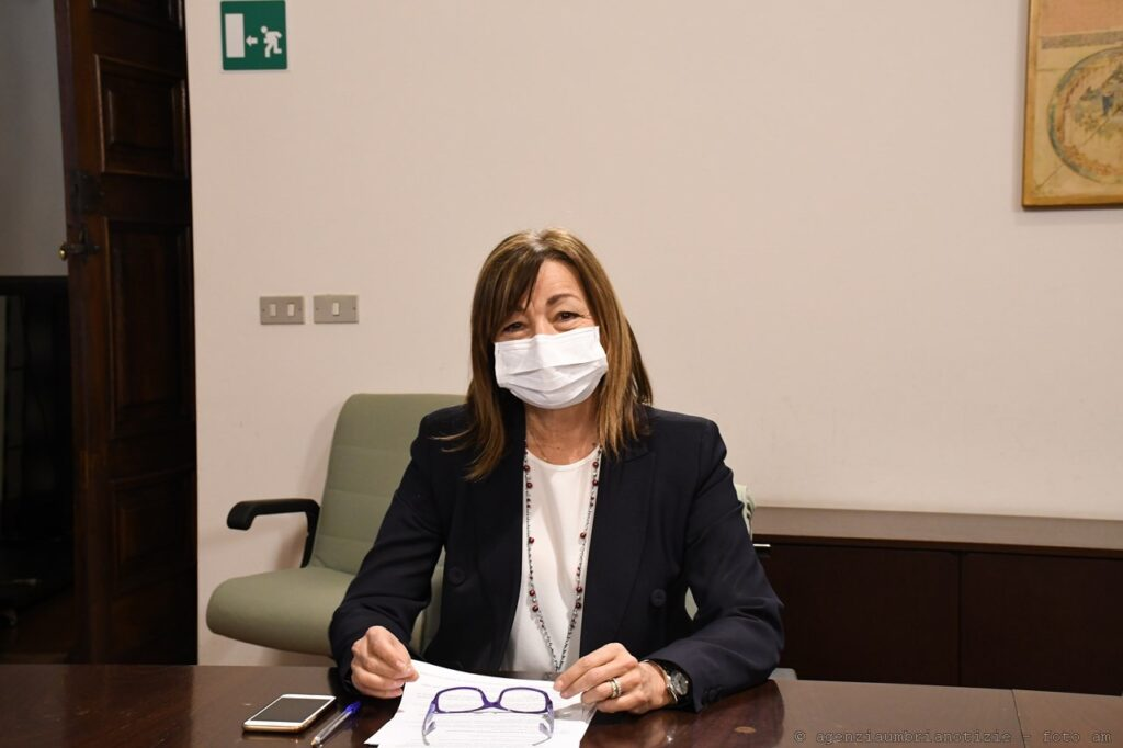 La presidente della Regione Umbria DonatellaTesei