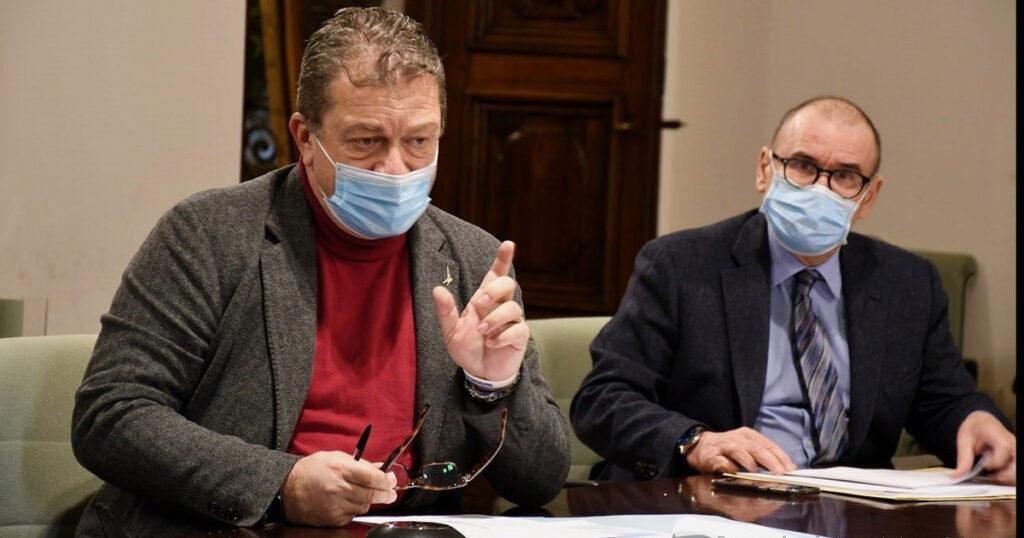 Il direttore Dario con l'assessore Coletto