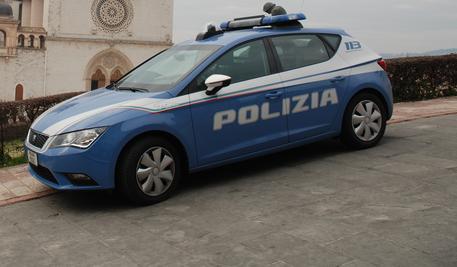 Una Volante della Polizia ad Assisi