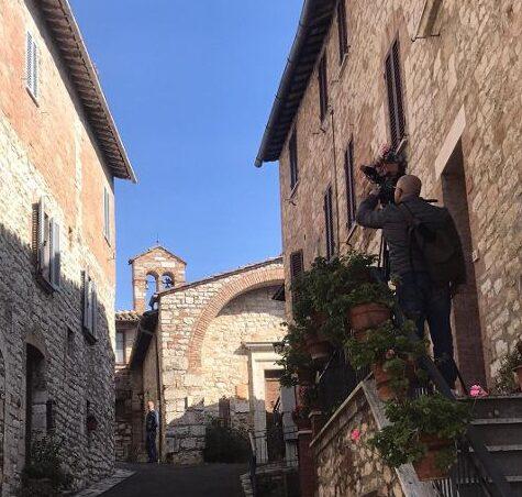 Il borgo di Corciano al suo interno