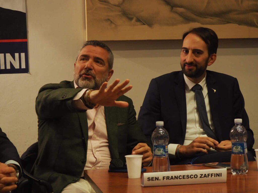 Franco Zaffini e Virginio Caparvi (a destra)