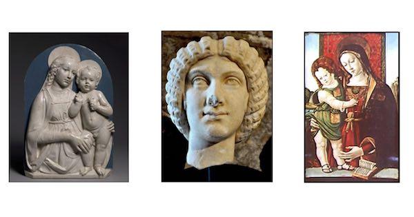 Alcune delle opere recuperate dal Comando Carabinieri per la Tutela del Patrimonio Culturale, pubblicate nel bollettino 'Arte in ostaggio'