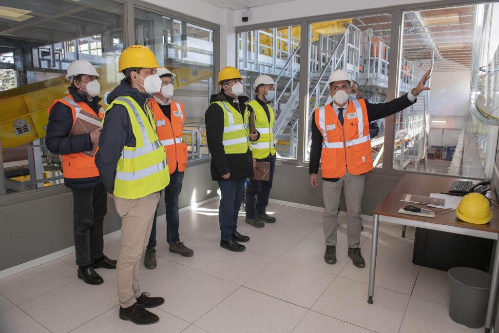 Il sindaco di Perugia Romizi visita l'impianto Gesenu a Perugia, a seguito dei lavori di ammodernamento
