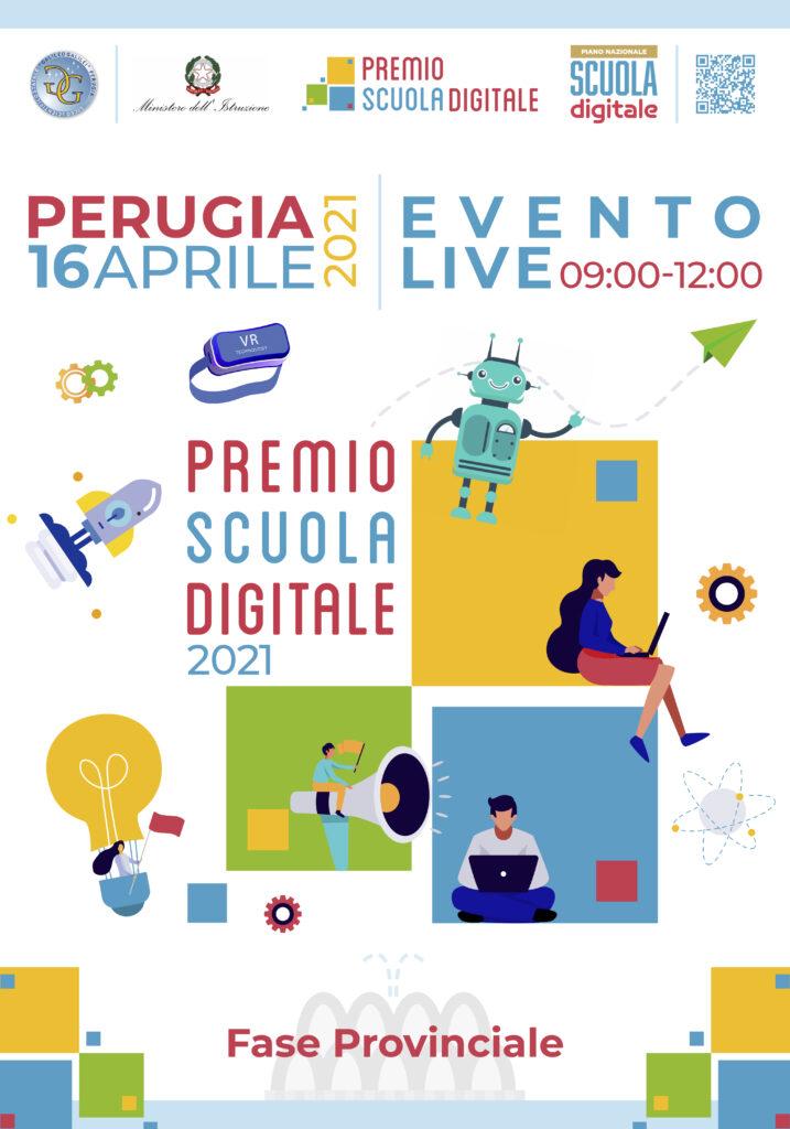'Premio Scuola Digitale 2021':la locandina dell'evento on line