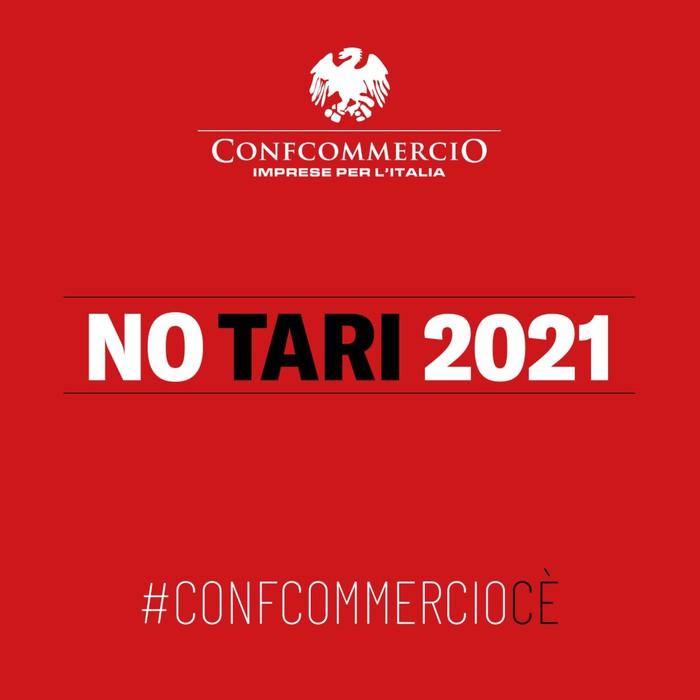 Il logo della campagna 'No Tari 2021'