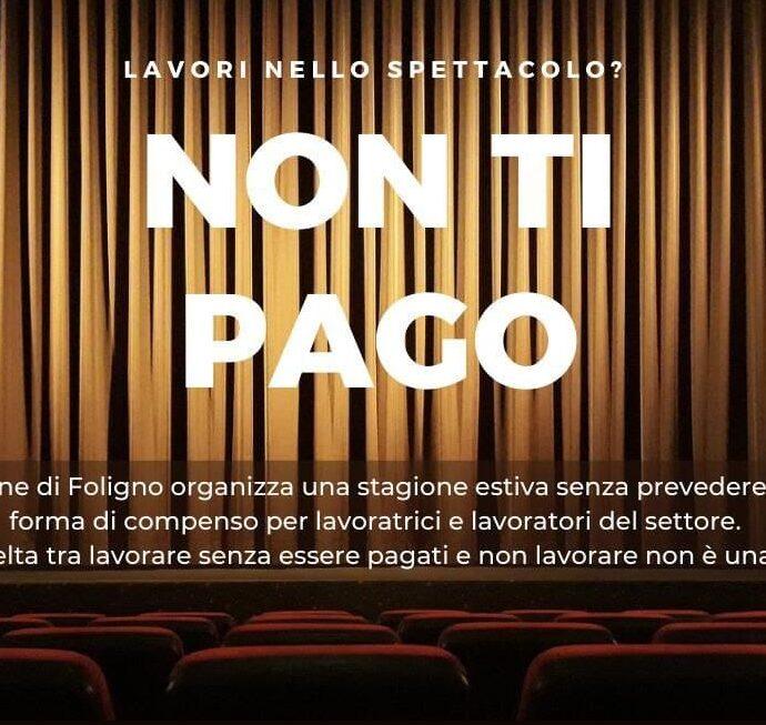 Non ti pago: il logo della manifestazione in programma a Foligno