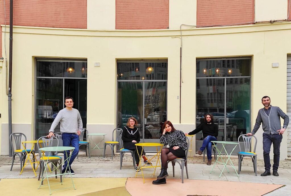 La squadra di POPUP, il nuovo spazio sociale e culturale di Perugia