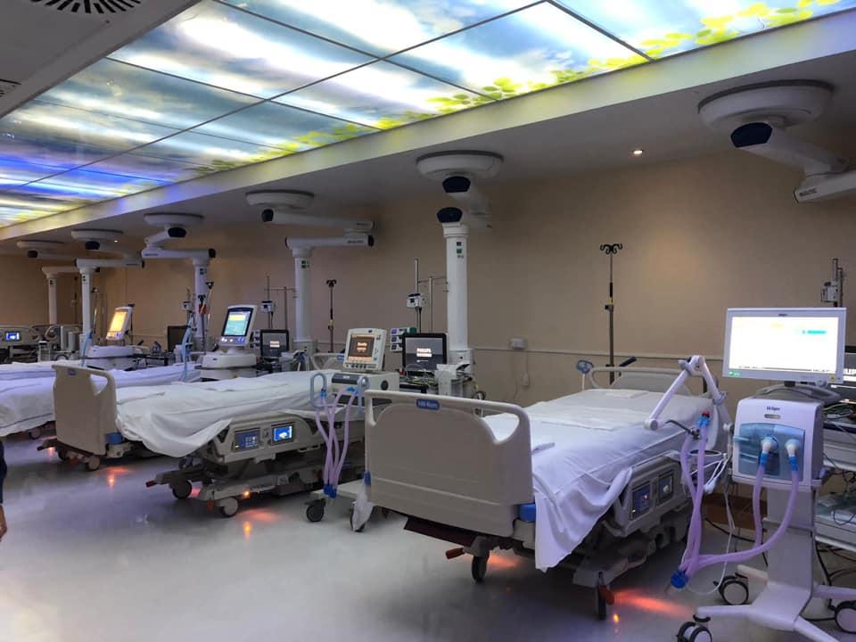 L'interno di un reparto Covid