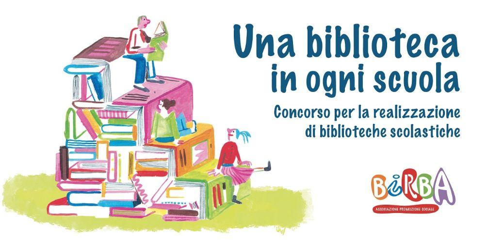 Il logo del Concorso 'Una biblioteca in ogni scuola'