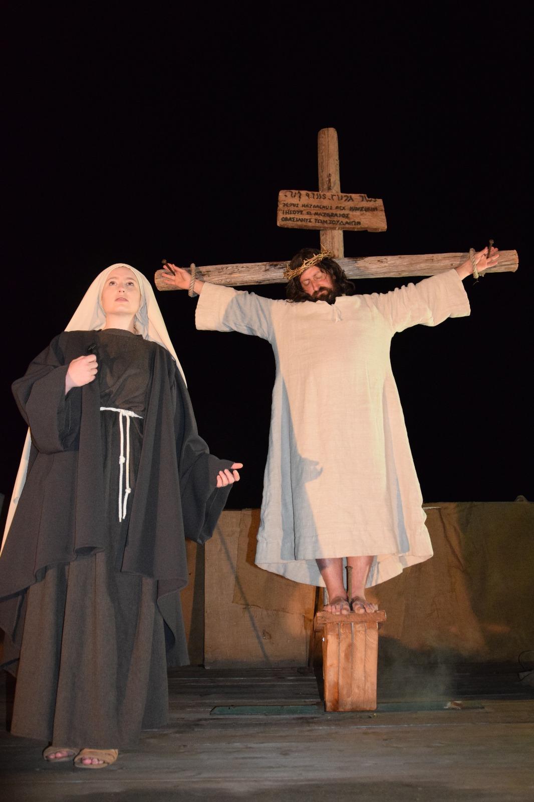 Un momento della Rappresentazione Sacra del Venerdì Santo a Fiamenga