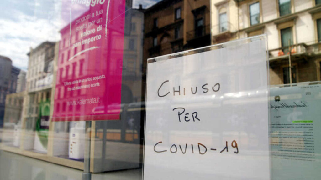 Un ristorante chiuso