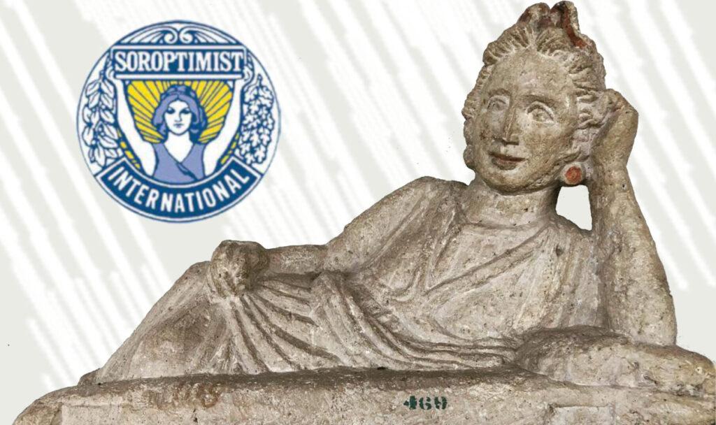 L'immagine della locandina del ciclo d'incontri 'Donne Etrusche a Perugia'