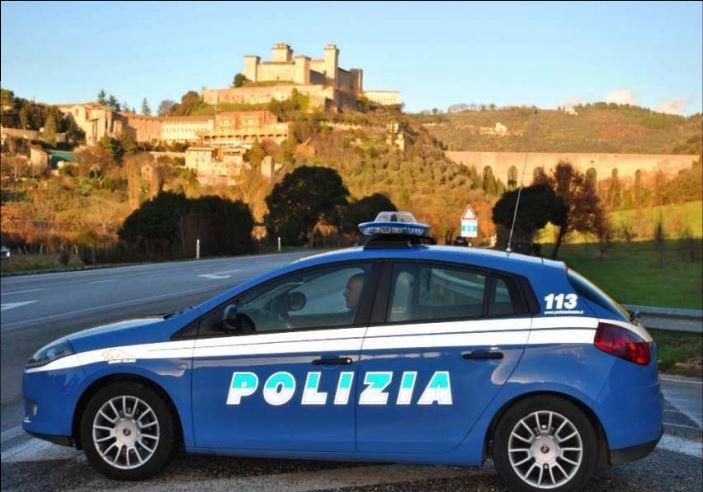 Un posto di blocco della Polizia