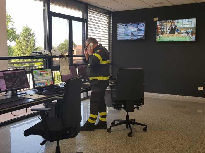 I Vigili del fuoco di Terni