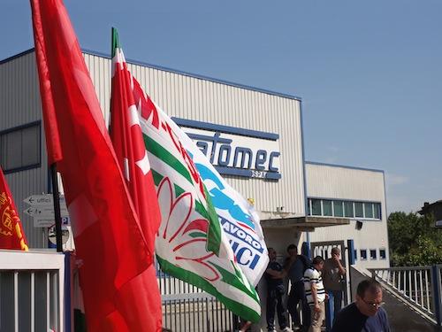Uno sciopero alla Trafomec