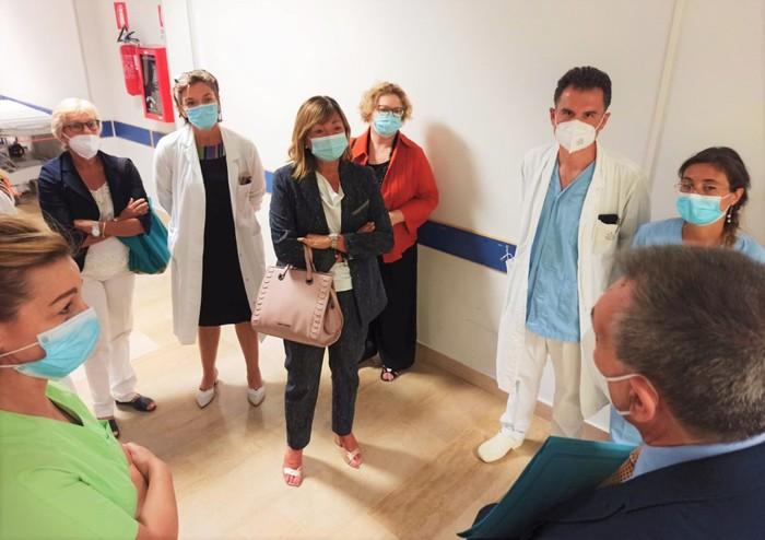 La presidente Tesei all'ospedale di Spoleto