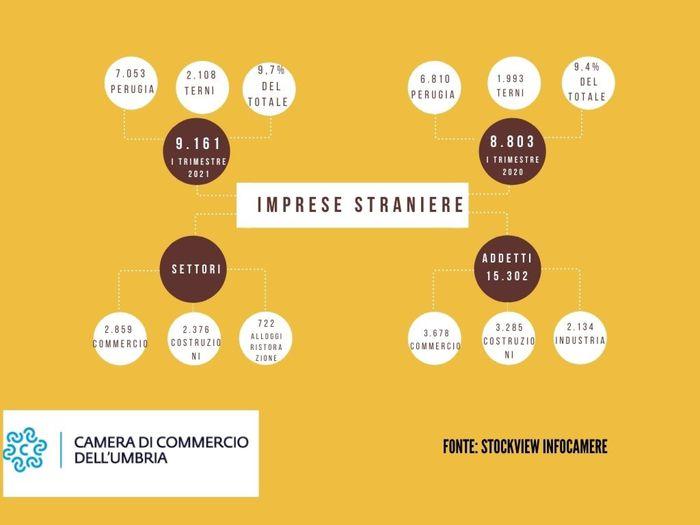 I dati della Camera di commercio dell'Umbria