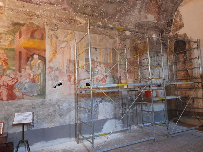 Restauro degli affreschi della chiesa di San Francesco a Narni