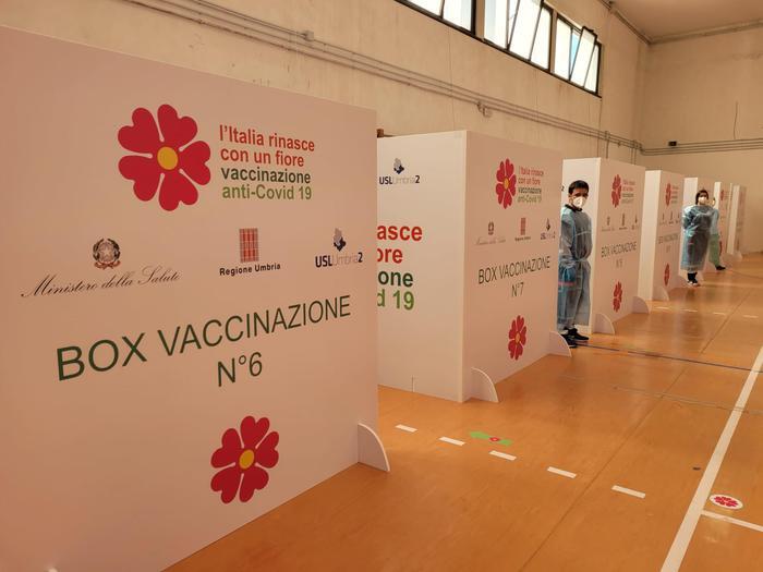 Un punto vaccinale a Terni