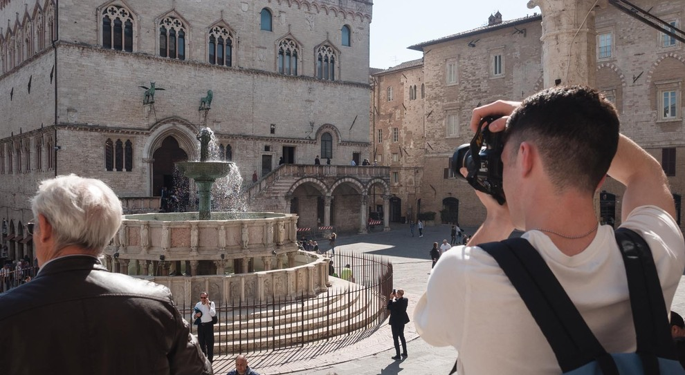 Turisti a Perugia