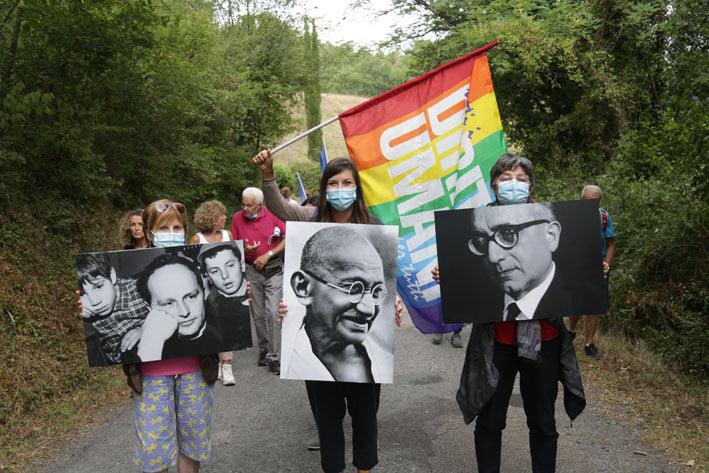 Partenza simbolica della Marcia a Barbiana il 4 settembre 2021